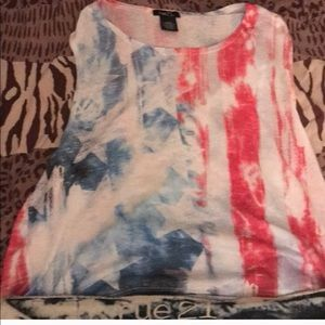 Tops - Rue 21 Red,white, and blue striped shirt.